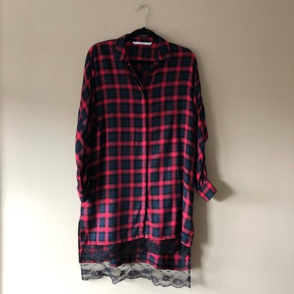 ed78a8f3812 Zara Trafaluc oversized plaid shirt dress. M 5c6eeefaaa571955b1661f69